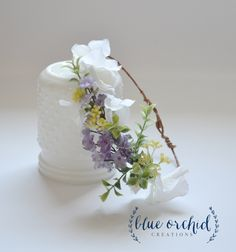 Lavender and Berry, Flower Crown, Floral Crown, Hydrangea Crown, Hair Accessories, Purple Flower Crown by blueorchidcreations on Etsy