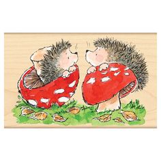 Penny Black has a lot of amazingly cute #hedgehog #rubberstamps. This one is my favorite <3
