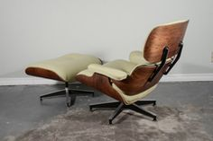 Rosewood Eames Lounge and Ottoman at 1stdibs
