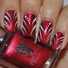 Image via Red nail art designs examples Image via Red nail art and beautiful patterns Image via Christmas style red nails design Image via Zebra and red nail art designs Fingernail Designs, Red Nail Designs, Nail Polish Designs, Nails Design, Pedicure Designs, Xmas Nails, Red Nails, Pastel Nails, Pink Nail
