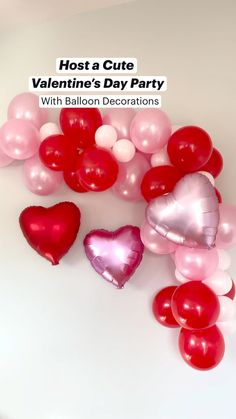 Balloon Backdrop, Balloon Centerpieces, Balloon Decorations Party, Valentine Decorations, Party Themes, Party Ideas, Homemade Valentines, Valentines Day Party, Happy Love Day