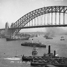 Sydney Harbour Bridge opening celebrations, 19th March 1932 (85 years tomorrow) #sydney #history #sydneyharbour #sydneyharbourbridge http://fat.ly/1q8ot (Instagram Image from @beliefmedia, 18th March 2017 4:16am).