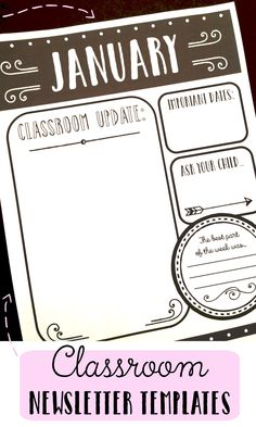 classroom newsletter template free small medium and large images