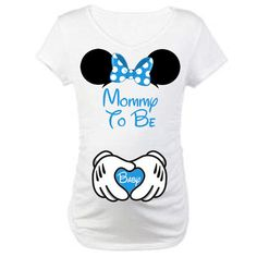 Printable Mommy and Baby Maternity Pregnancy Mommy To Be Mickey Hands Minnie Ears DIY Disney Shirts