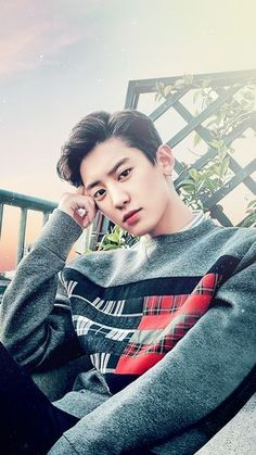 Chanyeol on tommy hilfiger clik here to get look like chanyeol  #chanyeol #kpop #kpopfashion #tommyhilfiger