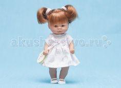 ASI Кукла пупсик 20 см 112940  Пупсик, размер 20 см, выполнен из винила, рыжие волосы собраны в два хвостика, в розовом платье, в красивой подарочной коробке.