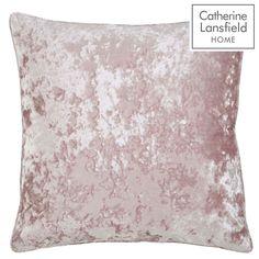 Catherine Lansfield Crushed Velvet Large Cushion in Blush Blush Pink Cushions, Pink Cushion Covers, Velvet Duvet, Velvet Cushions, Pink Curtains, Velvet Curtains, Luxury Cushions, Pink Tone, Pink Velvet