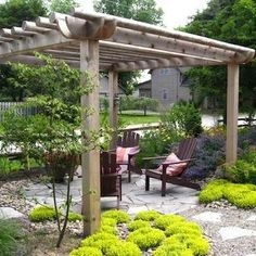 """The patio, from the Spanish for """"courtyard,"""" is an open-air living space that creates a transition b"""