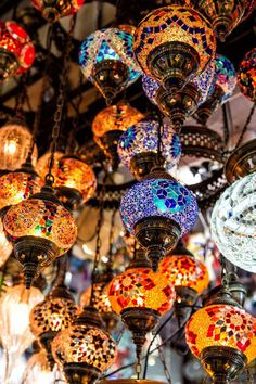 Shopping in the Grand Bazaar, Istanbul for lanterns, copper pots, and handmade pottery. This was our favorite place in Istanbul! Turkish Lanterns, Grand Bazaar Istanbul, Visit Istanbul, Bright Wallpaper, Capadocia, Turkey Holidays, Ephesus, Turkish Art, Turkey Travel