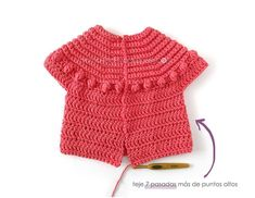 Crochet Jacket Bubbles pour fille [Tutorial and Pattern FREE] Crochet Girls, Crochet Baby Clothes, Crochet For Kids, Knit Crochet, Gilet Crochet, Crochet Jacket, Crochet Stitches Chart, Crochet Patterns, Knitting Patterns