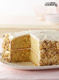 Banana-Sour Cream Cake #recipe