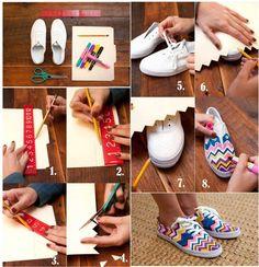 change your plain shoes into fashion shoes