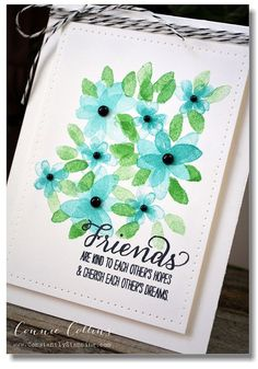 We're in love with this card made with the Garden In Bloom stamp set.