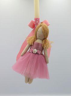 χειροποίητη πασχαλινή λαμπάδα κούκλα σάπιο μήλο ροζ, annassecret, Χειροποιητες μπομπονιερες γαμου, Χειροποιητες μπομπονιερες βαπτισης