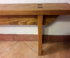 Banco Pino macizo, sin tornillos Table, Furniture, Home Decor, Pine, Benches, Homemade Home Decor, Mesas, Home Furnishings, Desk