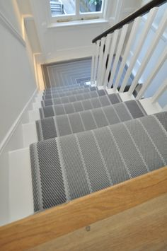16 Best Ideas for living room carpet ideas grey stair runners Striped Carpet Stairs, Grey Stair Carpet, Stairway Carpet, Striped Carpets, Hallway Carpet, Beige Carpet, Carpet For Stairs, Carpet Runner On Stairs, Stairway Walls