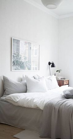 Simple Interior Design For Bedroom white living space - via coco lapine design | bedroom | pinterest
