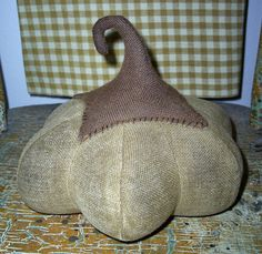 primitive pumpkin sewing patterns free | ... and stuffed and STUFFED, till it becomes………a Fabric Pumpkin