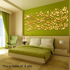 Fashion Oval Abstract Decor Glass Sticker Sofa Background Home Decor Mirror Wall Stickers Gold Bedroom Decor, Decor Home Living Room, Bedroom Wall Colors, Home Decor Mirrors, Wall Colours, Bedroom Décor, 3d Mirror Wall Stickers, Wall Decor Stickers, Wall Decals