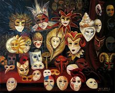 Venetian Mask Collection Painting