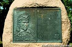 Daniel Boone's First Grave - Daniel Boone Monument - Boone Monument Rd, Marthasville, M