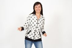 "Zip-up hoodie ""Janice"""