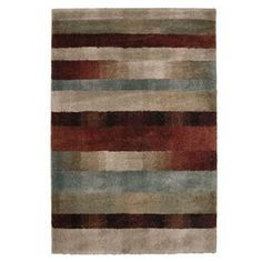 Orian Rugs Carolina Wild 5-ft 3-in x 7-ft 6-in Rectangular Tan Transitional Area Rug--Favorite when seen in person; the colors on-screen are much more washed out and gray.  Very plush.