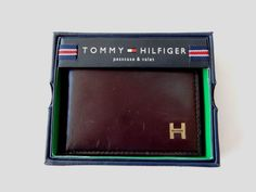 TOMMY HILFIGER Dark Brown Passcase Billfold Original Price $48 #TommyHilfiger #Bifold
