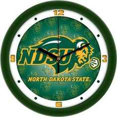 North Dakota State University Clock Dimensional Design Wall Clock