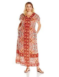 Lucky Brand Women's Plus-Size Scarf Print Maxi Dress - http://www.darrenblogs.com/2016/08/lucky-brand-womens-plus-size-scarf-print-maxi-dress/