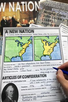 This 49 slide PowerPoint presentation covers the Articles of Confederation and the Constitution. 6th Grade Social Studies, Social Studies Worksheets, Teaching Government, Government Lessons, Us History, Canadian History, American History, 8th Grade History, History Classroom