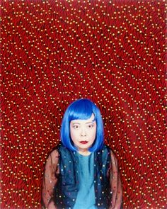 She has explained that each dot is like a vortex into other universes *high five* (Yayoi Kusama)