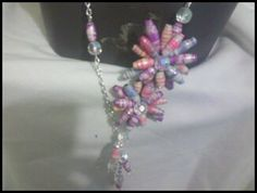 colorful paper bead flower necklace by SibrinaCreations on Etsy, $9.99