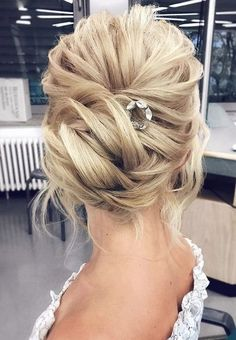 Whether you're planning a wedding, or it's your bestie who's walking down the aisle, we've got the perfect wedding hair inspiration. We've looked back at Tonya Pushkareva hairstyle inspi. Elegant Wedding Hair, Short Wedding Hair, Hair Comb Wedding, Wedding Hair And Makeup, Trendy Wedding, Perfect Wedding, Bridal Hair, Bridesmaid Hair, Prom Hair