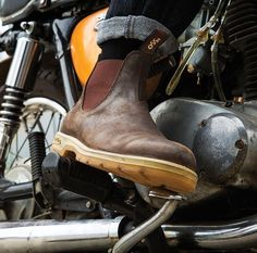 Blundstone 1320 510 and 552 Comfort Classic Round-Toe Boot Elsinore TCX Xelement #Blundstone #Motorcycle