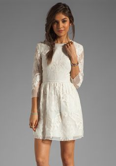 DOLCE VITA Valentina Victorian Embroidery in White at Revolve Clothing - Free Shipping!