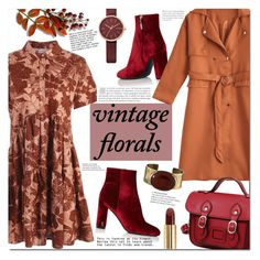 """Vintage florals"" by mery90 ❤ liked on Polyvore featuring Yves Saint Laurent, Skagen, Orduna Design, Gucci, vintage, fallstyle, zaful, fall2017 and vintageflorals"
