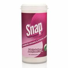 Snap™ Fabric Softener soften your clothes while leaving them fresh and beautiful with Snap Fabric Softener. If you are tired of fabric softeners that leave spots, gum up and become sticky, this fabric softener is the perfect solution...shop now>>> http://www.shop.com/tllin/559053522-p+260.xhtml?vid=243390