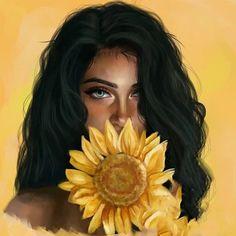 21 Must Known 2019 Tipps und Ideen für die Kunstmalerei - Digital Art Girl, Digital Portrait, Black Girl Art, Black Women Art, Photo Portrait, Portrait Art, Girly Drawings, Art Drawings, Drawing Art
