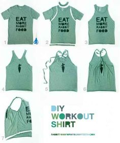 DIY Workout Shirt   29 Ways To Makeover A Boxy Men's T-Shirt