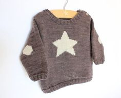 "Handknit baby sweater ""little star""...I  can  figure this  out"