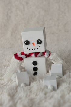 This adorable Block Snowman is made from 2 wood blocks for his head and body, and 1 blocks for his hands and feet. He is hand sanded, painted and put together with love and Christmas dreams, and wont melt when it gets warm outside!  This would make an adorable adornment to any Cute Christmas Decorations, Christmas Wood Crafts, Holiday Crafts, Christmas Crafts, Christmas Ornaments, Wooden Projects, Wooden Crafts, Wooden Blocks, Wood Toys