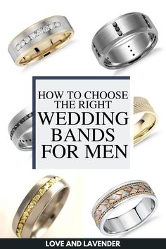 If you're struggling to find the perfect wedding band for you, we have tons of options that we compiled for easy browsing. Check out Love and Lavender's list of the best wedding bands for men and answered a few FAQs. #weddingbands #mensweddingbands #weddingbandsformen Bridal Jewelry Sets, Wedding Jewelry, Wedding Men, Wedding Bands, Stylish Rings, Classic Gold, Glitz And Glam, Perfect Wedding, Lavender