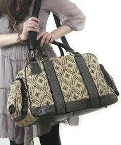 Look what I found on #zulily! Black Dandelion Diaper Bag by amykathryn #zulilyfinds