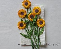 Good idea for a lovely sunflower card!