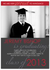 Green Stripes Blank Graduation Announcement | 2013 Graduation ...