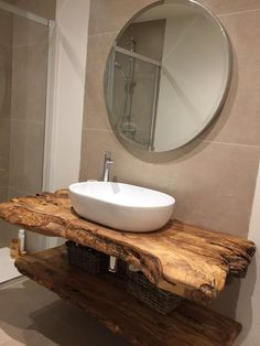 rustic Bathroom Decor The Top Rustic Small Bathroom Ideas With Wooden Decor Wooden Bathroom, Bathroom Furniture, Small Bathroom, Bathroom Ideas, Bathroom Vanities, Bathroom Cabinets, Bathroom Designs, Sinks, Relaxing Bathroom