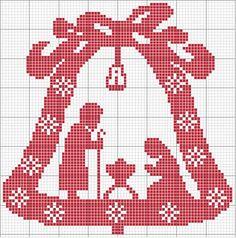 Ho disegnato e realizzato questo oggetto per abbellire la mia casa per il Santo Natale e volentieri condivido con voi lo schema. Buone crocette. Pina