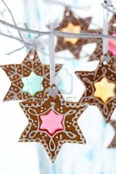 Gingerbread cookies as ornaments