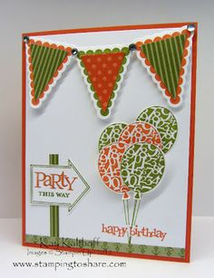 Simple but cute birthday card from Stamping to Share